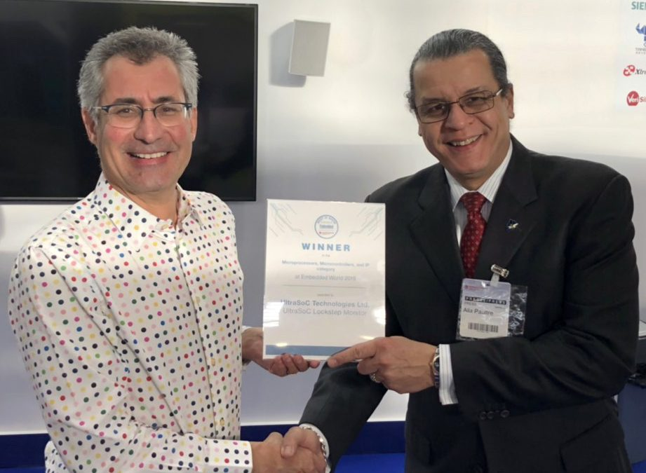 UltraSoC's Lockstep Monitor wins Best in Show Microprocessor IP at Embedded World 2019