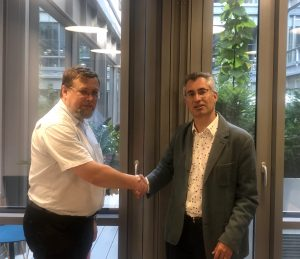 UltraSoC CEO Rupert Baines and Director of Systems Engineering Marcin Hlond